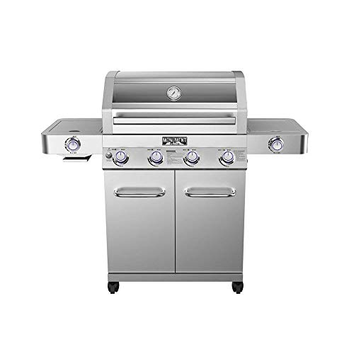 Monument Grills Clearview Lid 4 Burner with Side...