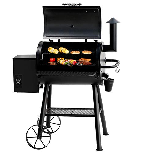 BIG HORN Pellet Grill and Smoker, 700 Sq. In....
