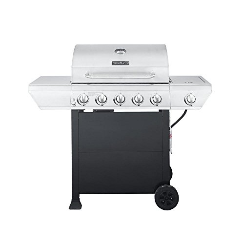 5-Burner Propane Gas Grill in Stainless Steel with...