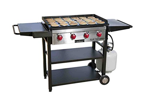 Camp Chef Flat Top Grill, True Seasoned Griddle...