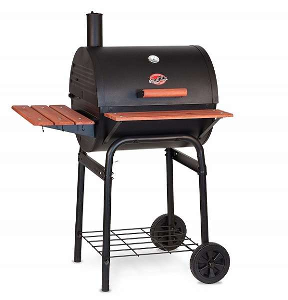 Best Charcoal Smoker Grills - Char-Griller E2123 Wrangler 635 Square Inch Charcoal Grill/Smoker