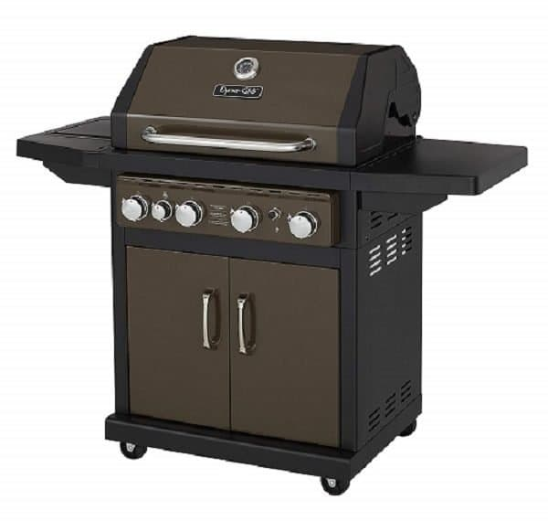 Dyna Glo Grills Reviews 2019 - Dyna-Glo Bronze 60,000 BTU 4-Burner Propane Gas Grill with Side Burner