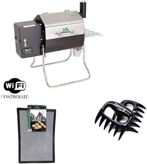 Davy Crockett GMG Pellet Grill with BBQ Claws and Grilling Mat Combo