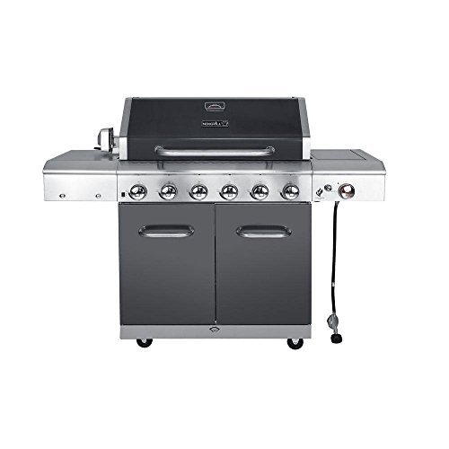 Nexgrill vs Weber Grills - Deluxe 6-Burner Gas Grill with Searing Side Burner in Slate