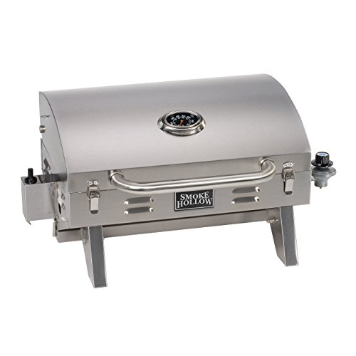 Best Gas Grills Under $500 - Smoke Hollow 205 Stainless Steel Tabletop Propane Gas Grill