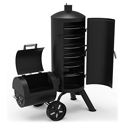 Best Charcoal Smoker Grills - Dyna-Glo Signature Series DGSS1382VCS-D Heavy-Duty Vertical Offset Charcoal Smoker & Grill
