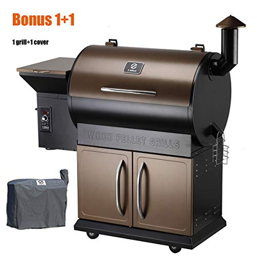 Z Grills vs Traeger Grills -  Z Grills Wood Pellet Grill and Smoker with Patio Cover with Electrical Digital Controls