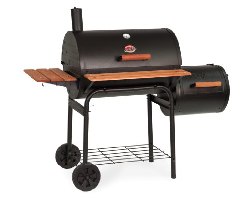 Compare the Oklahoma Joe Longhorn to a Char-Griller E1224 Smokin Pro 830 Sq Inch Charcoal Grill
