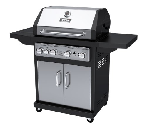 Best Gas Grills Under $500 - Dyna-Glo Black & Stainless Premium Grill