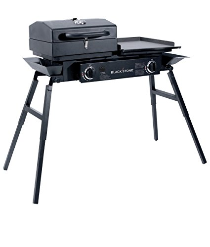 Top 6 Blackstone Grills Reviews - Blackstone Grills Tailgater Two Open Burners & Griddle Top