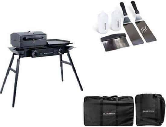 Blackstone Grills Tailgater Two Open Burners & Griddle Top