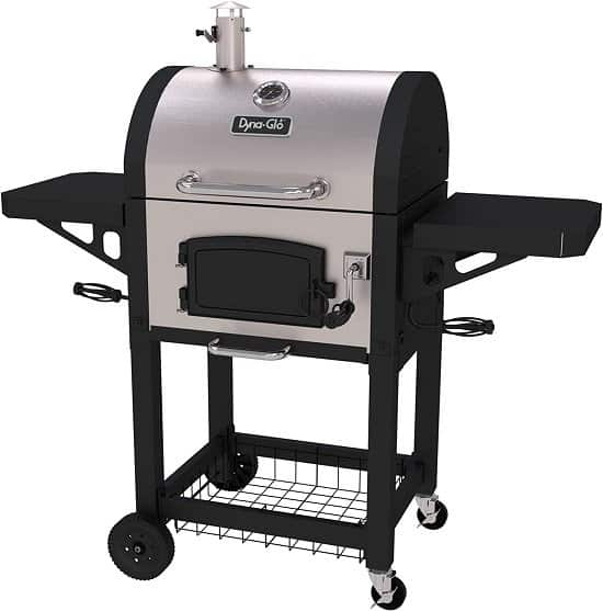 Dyna Glo Charcoal Grill Reviews - Dyna-Glo DGN405SNC-D stainless steel charcoal grill
