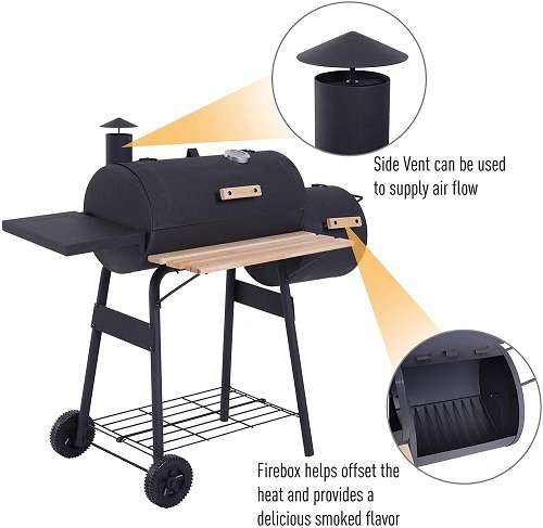 What Users Saying about Outsunny 48'' Charcoal Grill?