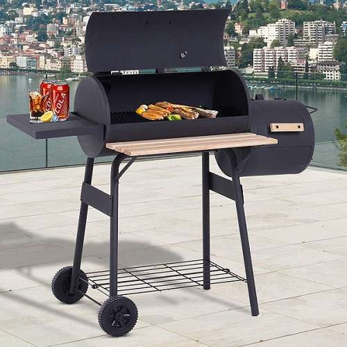 Outsunny 48'' Steel Portable Backyard Charcoal BBQ Grill Review