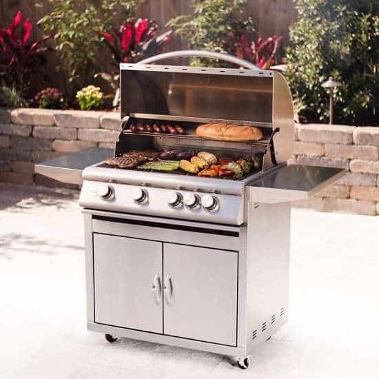 Blaze Grills Reviews - Blaze 32-inch Grill Freestanding Propane Gas