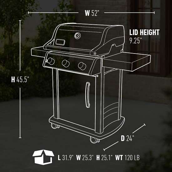 Key Features of the Weber S315 LP Gas Grill