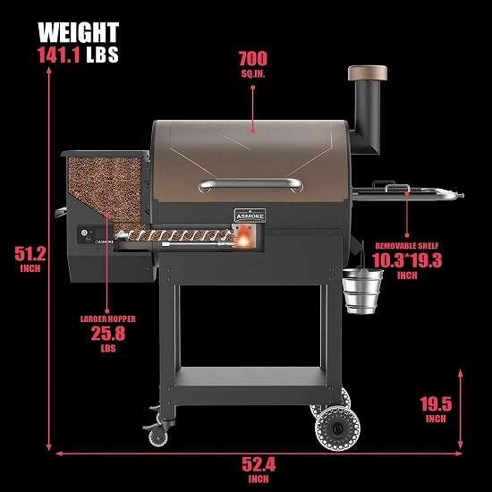 What is the key features of ASMOKE AS660N Pellet Grill?