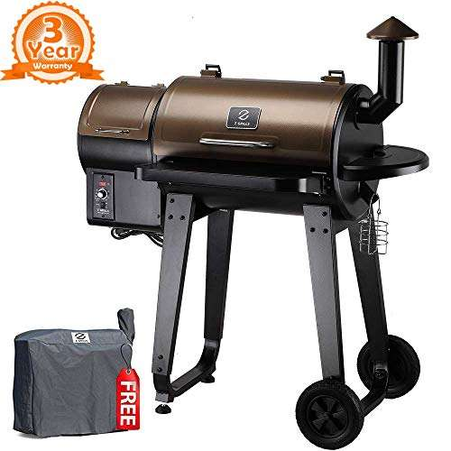 Z Grills ZPG-450A 2021 Wood Pellet Grill and Smoker - 6-in-1 BBQ Grill