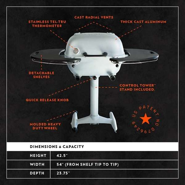 What is the Key Features Of PK Grills PK360 Outdoor Charcoal Grill