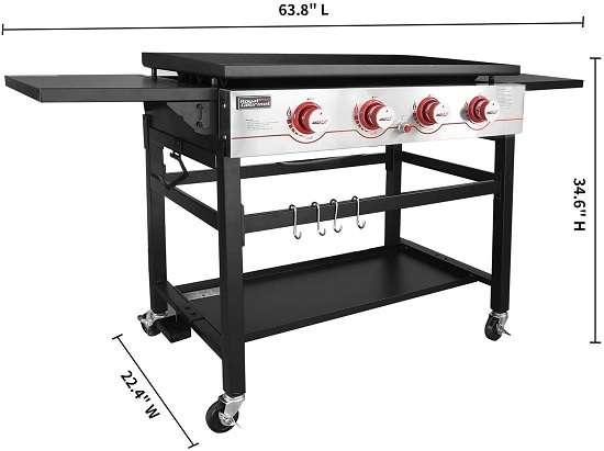 Key Features Of Royal Gourmet GB4000 36-inch 4-Burner Flat Top Griddle