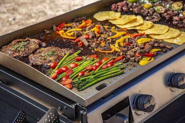 What is the Key Features of PB757GD 4 Burner LP Gas Griddle