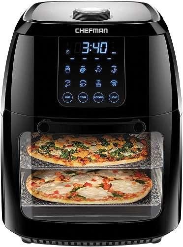 Chefman 6.3 Quart Digital Air Fryer with Rotisserie