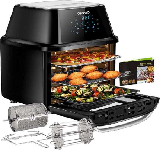 OMMO 17-Quart Air Fryer Toaster Oven Combo