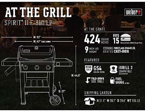What Are The Key Features Of Weber 45010001 Spirit II E-310 Gas Grill